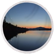 Moon Rise Round Beach Towel
