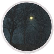Moon Tree Round Beach Towel