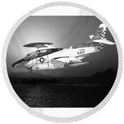 Moonlight Buckeye T 2c Training Mission Round Beach Towel