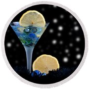 Creative - Moonlight Dark Star Cocktail Lemon Flavoured 1 Round Beach Towel