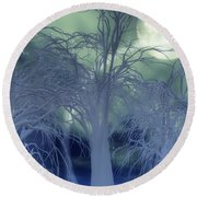 Moonlight Forest Round Beach Towel