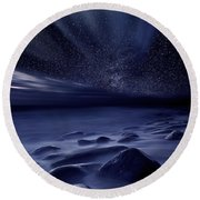 Moonlight Round Beach Towel by Jorge Maia