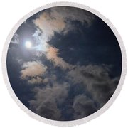 Moonlight Madness Round Beach Towel