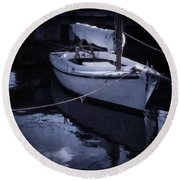 Moonlight Sail Round Beach Towel by Amy Weiss