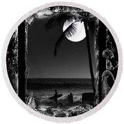 Moonlight Surf Round Beach Towel