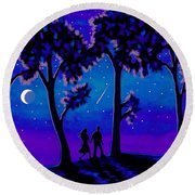 Moonlight Walk Round Beach Towel