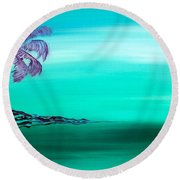 Moonlit Palm Round Beach Towel