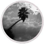 Moonlit Palm Round Beach Towel