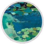 Moonlit Shadows Round Beach Towel