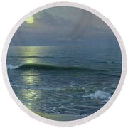 Moonrise Round Beach Towel by Guillermo Gomez y Gil