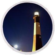 Moonrise On Tybee Island Round Beach Towel