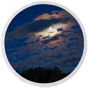 Moonscape Round Beach Towel by Robert Bales