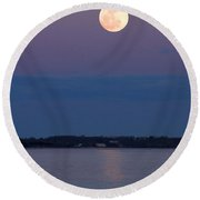 Moonshine Round Beach Towel
