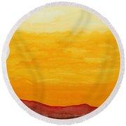 Moonshine Original Painting Sold Round Beach Towel
