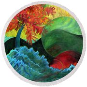 Moonstorm Round Beach Towel