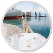Mooring Round Beach Towel