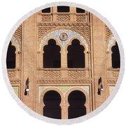 Moorish Arches Madrid Round Beach Towel