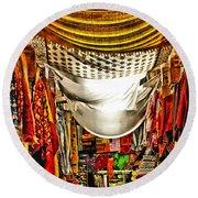 Moorish Market In Granada 2 Round Beach Towel