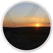 Moorland Sunset Round Beach Towel