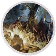 Moravian Missionary Round Beach Towel