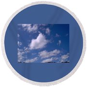 More Clouds Round Beach Towel