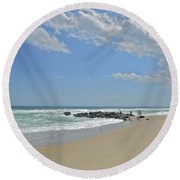Glorious May 2 Round Beach Towel