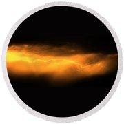 More Late Night Servere Nebraska Storms Round Beach Towel