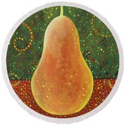 More Than A Pear Round Beach Towel