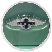 Morgan Car Emblem Round Beach Towel