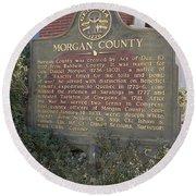 Morgan County Round Beach Towel