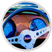 Morgan Steering Wheel Round Beach Towel