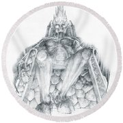 Morgoth Bauglir Round Beach Towel