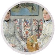 Morisot's The Sisters Round Beach Towel