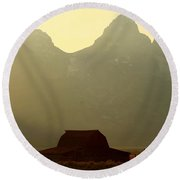 Mormon Homestead Round Beach Towel