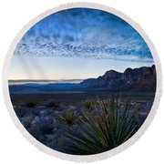 Morning At Red Rock Round Beach Towel