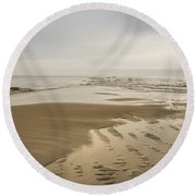 Morning At The End Of The Bar Round Beach Towel