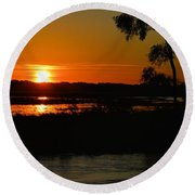 Morning At The Marsh 2 Round Beach Towel