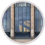 Morning At The Vista House Round Beach Towel