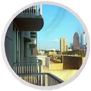 Morning Atlantic Station Round Beach Towel
