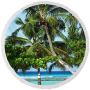 Morning Beauty Round Beach Towel