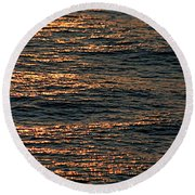 Morning Becomes Round Beach Towel