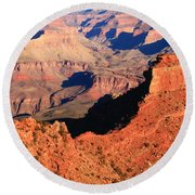 Morning Colors Grand Canyon Round Beach Towel