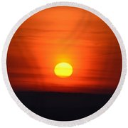 Morning Comes A New Day Round Beach Towel