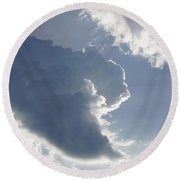 Morning Cumulus Round Beach Towel