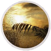 Morning Dew Screen Round Beach Towel