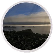 Morning Fog Burning Off At Quoddy Round Beach Towel