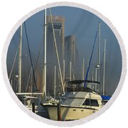 Morning Fog Ll Round Beach Towel