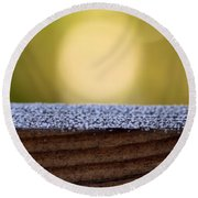 Morning Frost Abstract Round Beach Towel