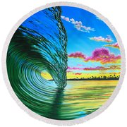 Morning Glass Round Beach Towel