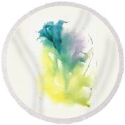 Morning Glory Abstract Round Beach Towel
